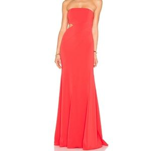 Jay Godfrey Doyle Gown in Coral Red